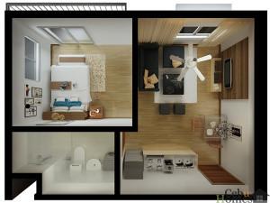 1-bedroom_top-view