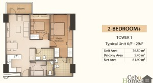 2BR+ Layout